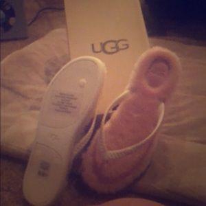 Pink Fuzzy UGG Flip Flops